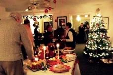 Christmas buffet.