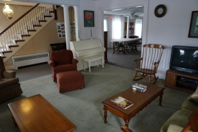 View of the shared living room
